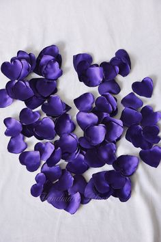 Purple Rose Satin Petals Silk Rose Petals Wedding by HandMadeBloom