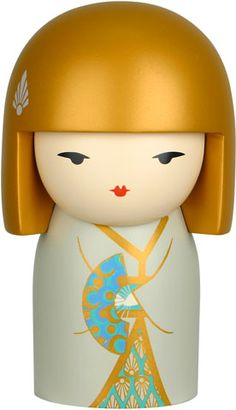 """Kimmidoll™ Yasuko - 'Wellness' - """"My spirit is resilient and strong. The power of my spirit is released through thought and action. In everything you do and think may you nurture a resilient spirit, a strong body and a happy mind. For this is the way to wellbeing."""""""