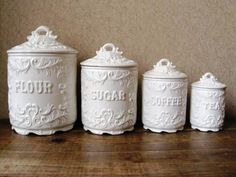Image result for white ceramic kitchen canisters