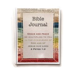 This Bible Journal is wonderful for recording what you learn through studying Gods word. It has places for you to record the date and scripture passage you are studying, plus the basic questions you want to ask about every passage you study. The rest of the page is in a graph paper format and it perfect for writing thoughts, verses, questions and drawing or doodling. The paper is 32 lb so it can handle heavy pens, stickers, washi tape and just about anything else you can think to use! Each…