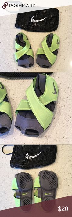 Nike Studio Wrap - Size Small - NWOT Nike Studio Wrap - Size S - Lime Green- includes wraps and mesh washing bag.  NWOT  The Nike Studio Wrap Training Shoe is designed to help you make the most of workouts typically done in bare feet, including yoga, dance, barre and Pilates. Nike Shoes Athletic Shoes