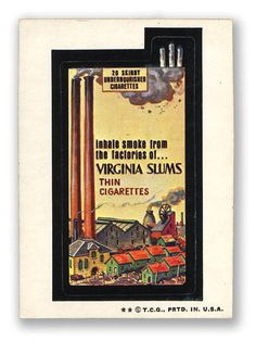 Topps Wacky Packages  6th Series 1974 VIRGINIA SLUMS