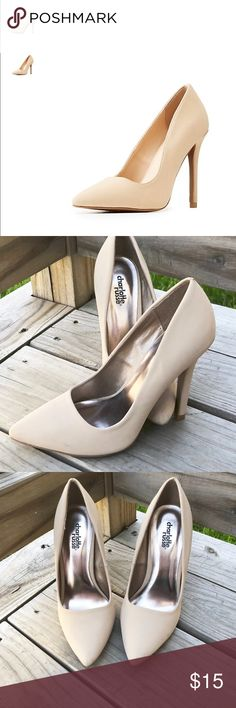 f9a270b8ce19 Nude Charlotte Russe Point toe heels Nude point toe heels Charlotte Russe.  Worn only once