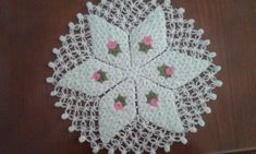 Crochet Kitchen, Crochet Squares, Doilies, Crochet Earrings, Projects To Try, Handmade, Crocheting, Needlepoint, Snowflakes