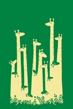 Giraffe Art Print by Budi Satria Kwan Art And Illustration, Giraffe Art, Giraffe Pattern, Elements Of Art, Negative Space, Art Plastique, Elementary Art, Teaching Art, Oeuvre D'art