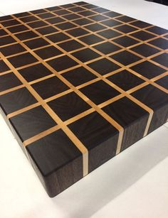 Walnut and Hard Maple End Grain Cutting Board