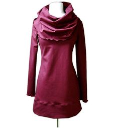 Organic cotton hoodie, hoodies tunic, wrap around shirt, womens ...