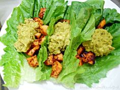Chicken Lettuce Wraps with Avocado Bacon Dressing!  Low carb and just heavenly...