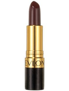Revlon Super Lustrous Lipstick in Black Cherry feels creamy and conditioning when applied and leaves the lips with a satiny sheen.   allure.com