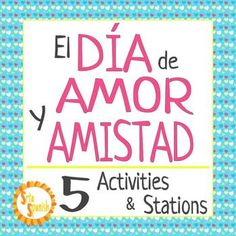 "Students complete a variety of stations and activities to learn about Da de Amor y Amistad. Stations focus on novice level grammar and vocabulary skills, to celebrate the holiday! Print and go stations are ready for your students to explore! Stations Include:Terms of Endearment- Locker Notes/CardsMi Perfil PersonalTengo Tu Love -Cloze + Listening*El Da de Amor y Amistad- Listening Activity ""Pick Up Lines""*Matching Conversation Hearts- Q/A*require access to a device to listen or watch the…"
