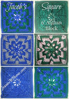 Jacob's Square Free Crochet Pattern by Jessie At Home ༺✿ƬⱤღ https://www.pinterest.com/teretegui/✿༻