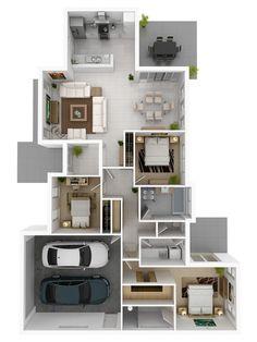 3D Gallery - Artist Impressions - 3D Architectural Visualisation - 3D Architectural Rendering - 3D Rendering - 3D floor plans - 2D floor plans - Brisbane - Perth - Melbourne - Sydney - Adelaide - Australia