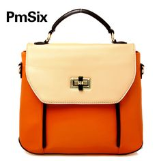 (FL005230) Pmsix 2012 Arrival Korea And Japan Vivi Style Stylish Contrast Color Hand Carry Messenger Bag Shoulder Bag Handbags [FL005230] - US $54.99 : FashionLeap