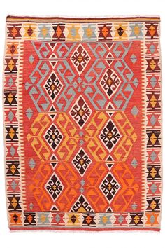 Anatolian Adana Kilim | Boutique Carpets - Oriental Rugs & Textiles in Cappadocia AGE: 40 - 50 Years MATERIALS: Wool SIZE: 180 x 130
