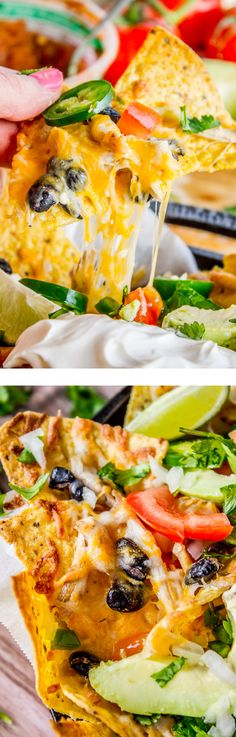 Easy Rotisserie Chicken Nachos - The Food Charlatan