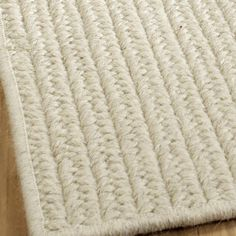 Double Flat Braided Wool Rugs; 3 Colors Available   Shades Of Light