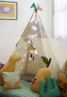 #teepee #tipi #cabana #cabaninha #tenda #tent #kids #nursery #decoração #deco…
