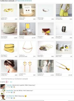 Ma collection estivale   http://www.alittlemarket.com/collection/collection_estivale-485589.html