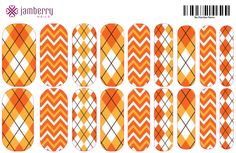 Upload this file to Jamberry Nail Art Studio to create these custom Preppy OSU wraps!! www.frannyheck.jamberrynails.net