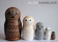 Alice Darkling: More owl nesting dolls! (russian / matryoshka ...