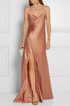 Mason by Michelle Mason | Silk-satin wrap gown | NET-A-PORTER.COM