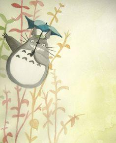 + Totoro Umbrella + by BellaRosie.deviantart.com on @deviantART