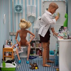 married life barbies. haha.