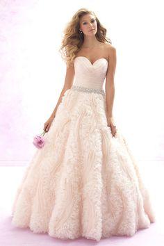 Lush ballgown with gossamer ruffles: http://www.stylemepretty.com/lookbook/designer/allure-bridals/ #SMPLookBook