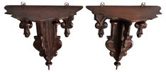 Antique Black Forest Wall Brackets, Pair - Italian Influence - Vintage Styles - Vintage One Kings Lane Antique Wall Decor, Wall Brackets, Black Forest, Kings Lane, Decorative Items, Stool, Vintage Fashion, Antiques, Furniture