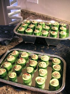 M&A engagement party stuffed cucumbers