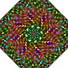 Cool Glitter Pattern Folding Umbrellas