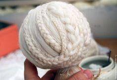 Косы из шерсти: причёска для куклы - Ярмарка Мастеров - ручная работа, handmade