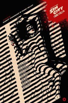 Sin City poster Fashion/ 2014 NEW Oakley Sunglasses Best Movie Posters, Cinema Posters, Movie Poster Art, Cool Posters, Sin City 2, City Poster, Tv Movie, Plakat Design, Culture Pop