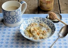 """My Mum's """"Teacup Apricot and Honey Porridge"""" Recipe for a Cold March Morning :http://www.lavenderandlovage.com/2013/03/my-mums-teacup-apricot-and-honey-porridge-recipe-for-a-cold-march-morning.html"""
