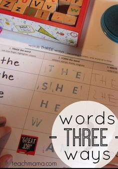 Words three ways is a learning activity that helps kids learn sight words in a creative, fun way! #sightwords #teachingkids #kidslearning #learning #earlyreader