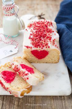 Plumcake con cuore a sorpresa (senza uova, senza latte, senza burro) Valentine's Day Heart Cake surprise inside