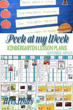 Lesson plans for apple week! From math, reading, an!d centers are all covered