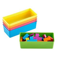 Our fantastic Smart Store Inserts are the perfect way to colorfully divide and organize all your things from crafts, to toys, to jewelry. They fit seamlessly within our Smart Store System.