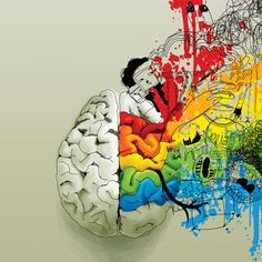 Have students draw over a brain to show their Left and/or Right Brain experiences. Similar to the advertisements...