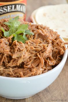 Apple Butter Pulled Pork - Sugar Dish Me