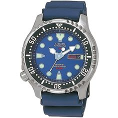 Citizen Promaster Sea Automatic Blue 20 ATM Day/Date Diver with Rubber Strap