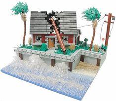 LEGO Water - Hurricane Irene by Blake Baer