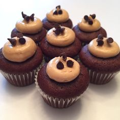Mini Chocolate Peanut Butter Cupcakes  Instagram: @taylacakes