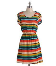 ModCloth Striped Short Sleeve Dress, $44.99 | 100 Insanely Cute Spring Dresses Under $50