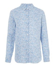 Liberty London for Uniqlo Kimberly and Sarah Printed Premium Linen Shirt