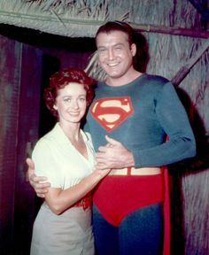 """Lois Lane (Noel Neill) and Superman George Reeves - """"The Adventures of Superman"""""""