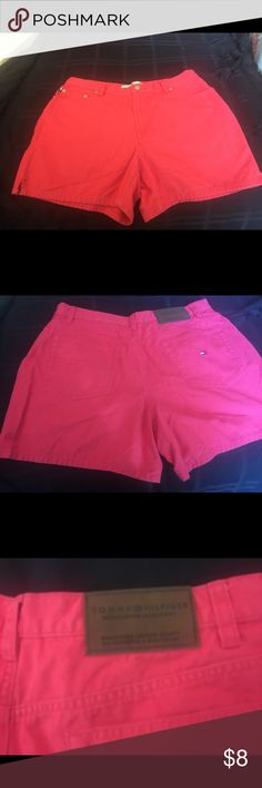 Final Sale on Tommy Hilfiger Size 6 Denim Shorts Spring is not far away!  These Tommy Hilfiger denim shorts are in a gorgeous coral color and will help get you started on building your spring wardrobe!  Would be great with a white Tee or blouse.  Please see listing for same size and style. They are in very good condition, minimal wear, no stains. Thanks for visiting my closet and let me know if you have questions. Thanks! Tommy Hilfiger Shorts Jean Shorts