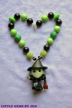 Wizard of Oz Green Witch NEcklace FREE SHIPPIN by LittleGemsbyJenT, $17.00