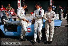 JW Gulf Porsche team drivers in 1970