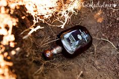 Southern folklore says that if you bury a bottle of bourbon at the site where the bride and groom are to be married, then it won't rain on their wedding day. This must be done exactly one month  before the wedding, the bottle must be completely full and it must be buried upside down...somebody better do this!!!